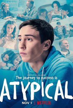 """The Netflix comedy """"Atypical"""" is the story of Sam, a young man with autism who is just starting out in life. His supportive family surround him. Netflix Original Series, Netflix Series, Series Movies, Watch Movies, Gilmore Girls, Movies Showing, Movies And Tv Shows, Good Netflix Tv Shows, Netflix Originals"""