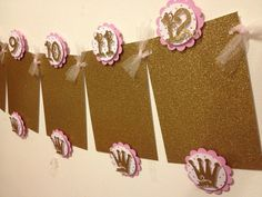 Pink and gold princess theme first birthday by Fancymycupcake