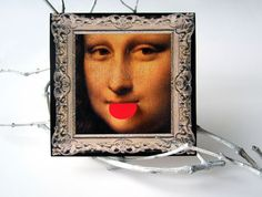 Digital Collage Sheet  Mona Lisa  Digital Images by LuckyGraphics, $3.50