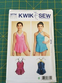 Kwik Sew 3774 sewing pattern girls skating dress by JESIceDesigns