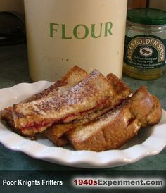 """Poor Knights Fritters - This is the 1940s equivalent of """"Fast Food""""... it's not that good for you BUT.... Consumed occasionally, I am sure it helped fill a gap and a sweet tooth craving taking only minutes to prepare. Hav..."""