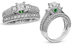 14K WHITE GOLD FN DIAMOND ENGAGEMENT WEDDING PRINCESS CUT RING BAND BRIDAL SET #aonedesigns #BridalEngagementRingSetBridalBandRingSet