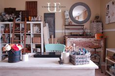 Office Makeover and organization at Unexpected Elegance