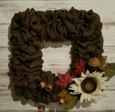 Check out this item in my Etsy shop https://www.etsy.com/listing/385367182/beautiful-square-fall-burlap-wreath-with