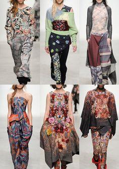 Paris Fashion Week – Autumn/Winter 2014/2015 – Print Highlights – Part 2 catwalks