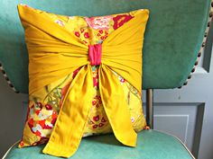 Pretty Bow Pillow by maureencracknell on Etsy, $36.00