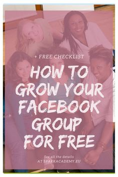 Do you want to grow your Facebook Group for free? Find 29 FREE and easy ways to start growing your Facebook Group without feeling spammy on sparkacademy.eu. Learn how to get more people to join your group now. Facebook Marketing Strategy, Online Marketing, Social Media Marketing, Content Marketing, Marketing Strategies, Marketing Plan, How To Use Facebook, Like Facebook, Facebook Business