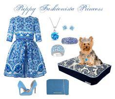 """Puppy Fashionista Princess"" by umoja ❤ liked on Polyvore featuring Dolce&Gabbana, Bling Jewelry, Swarovski, David Webb, Ice, Jessica Simpson and Roland Mouret"