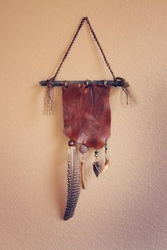bohemian wall hanging by Roots and Feathers, boho, bohemian, fashion, feathers, clothing, design, style