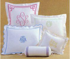 monogrammed nursery pillows