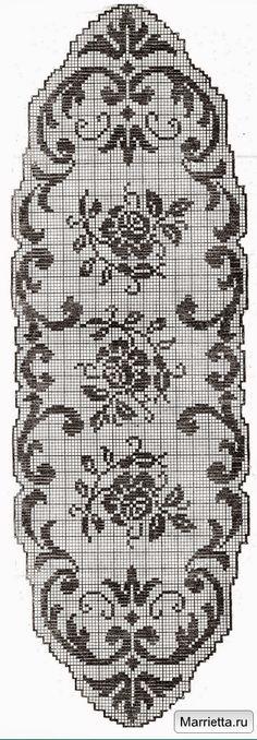 Filet crochet chart