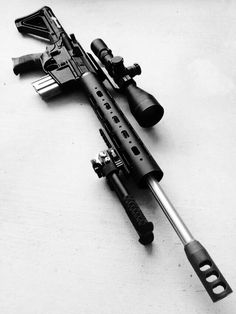 Grendel built off an Anderson upper and lower topped off with a Leupold Mark 4 sporting the reticle.look at this beauty Weapons Guns, Military Weapons, Airsoft Guns, Guns And Ammo, Tactical Rifles, Firearms, Ar Build, Battle Rifle, Custom Guns