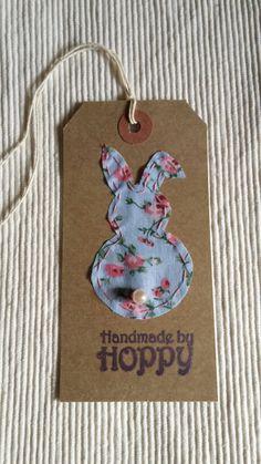 Handmade by Hoppy - Bunny gift tag