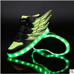 Boys And Girls Fashion Board Shoes Brilliant The New Led Children s Shoes Usb Charging Led Shoes Wholesale Drop Shipping