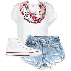 summer! by its-a-girl-thingg on Polyvore featuring Splendid and Converse