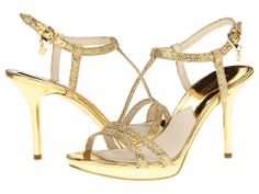 These MICHAEL Michael Kors Gold Yvonne Platforms Size US Regular (M, B) are a top 10 member favorite on Tradesy. T Strap Heels, Strappy Heels, Cheap Pumps, Kinds Of Shoes, Gold Heels, Michael Kors Gold, Platform Pumps, Open Toe, Fashion Shoes