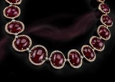 From Hubert Gem: A stunning 338.07 carats Rubellite Tourmaline Necklace