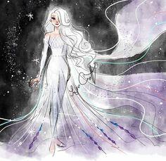 Snow Queen Elsa Art Print by jorjevanelle Princesa Disney Frozen, Disney Princess Frozen, Disney Princess Drawings, Disney Drawings, Disney Princesses, Fantasia Disney, Drawing Disney, Disney Sketches, Elsa Frozen