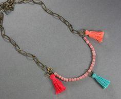 DIY Jewelry: Make a Boho Necklace with Tiny Tassels - Story by ModCloth
