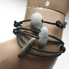 Beach Stone & fossil bracelets @Linda Klabunde