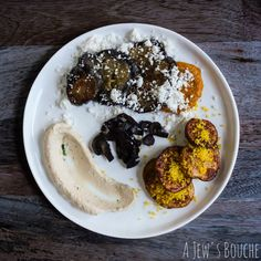 Like Israel itself, this dish a lively and warm mix of tradition, innovation, and pursuit of harmony. I've mixed up sabich, a classic Israeli street food, into a deconstruction of miso-glazed eggplant with amba gel and sesame snow; roasted cauliflower hummus; sumac roasted potatoes with cured egg yolk; and mushroom bacon.