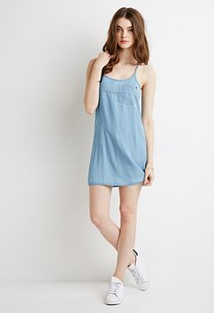 Chambray Y-Back Cami Dress | Forever 21 - 2000167362