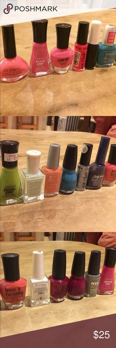 18 nail polish 💅 assortment 18 nail polish 💅 assortment . Sally Hansen, maybelline, wet n wild, sinful colors, art club, Love & beauty by forever 21, Rimmel, OPI, O.P.I., NYC brands Other