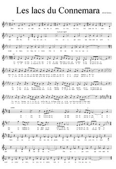 Les lacs du Connemara Piano Sheet Music Classical, Piano Music, Kalimba, Easy Piano, Connemara, Saxophone, Sound Of Music, Music Artists, Musicals