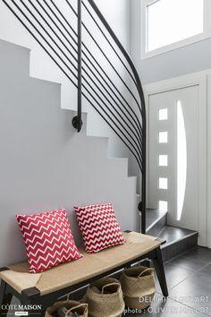 Une entrée familiale qui donne le ton, région parisienne, Delphine Guyart - décorateur d'intérieur
