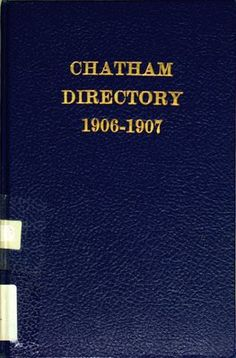 Vernon's city of Chatham street, alphabetical, business, and miscellaneous directory for the years 1906 to 190