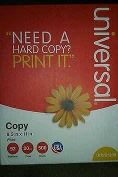 Universal copy paper 500 sheets