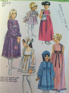 VINTAGE SEWING PATTERN SIMPLICITY 9133 GIRL'S Size 8 EASTER DRESS