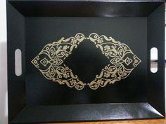 Tray Ottaman - Osmanli desen tepsi