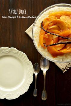 Bocadinhos de Açúcar: Arroz Doce com manga e maçã assadas #Nhammm