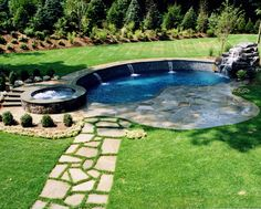 love the landscape surrounding this pool