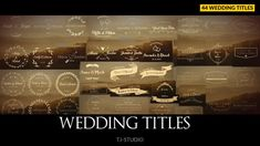 Play preview video Wedding Titles, Wedding Logos, Wedding Album, After Effects Projects, After Effects Templates, Cinematic Trailer, Creative Video, Free Fonts Download, Free Wedding