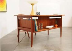 My favorite midcentury desk style - think Don Draper had one based on this style in early episodes.