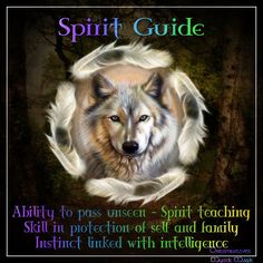 Wolf Spirit Guide - Pinned by The Mystic's Emporium on Etsy