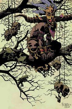 Wow, Duncan Fegredo totally nailed Mike Mignola's style on these Diablo 3 illustrations