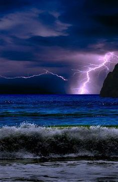 I'd love to be sitting out on deck watching a storm move across the ocean.