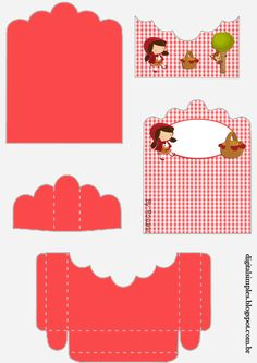 Little Red Riding Hood Free Printable Candy Packages Support. Red Party, Party Kit, Christmas Tree Train, Red Riding Hood Party, Little Red Ridding Hood, Farm Animal Crafts, Paper Box Template, Oh My Fiesta, Red Hood