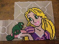 Rapunzel perler beads made by Creed_dj