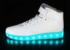LED Shoes: White Super Nova HoverKicks for Adults - hoverkicks