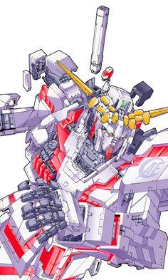 New Type added a new photo. Gundam Wing, Gundam Art, Anime Couples Manga, Cute Anime Couples, Anime Girls, Fallout Concept Art, Fighting Robots, Gundam Wallpapers, Retro Robot
