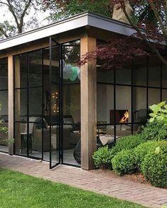Trendy home office design industrial lamps Container Home Designs, Extension Veranda, Garden Design Ideas On A Budget, Balkon Design, Iron Doors, Pergola Plans, Pergola Kits, Pergola Ideas, Trendy Home