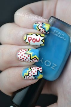 Nails by Kayla Shevonne: Tutorial Tuesday - Pop Art Nails