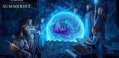 Scrying Rites Of The Psijic Order ART by Lucas Slominski - Senior Concept Artist at ZeniMax Online Studios The Elder Scrolls, Elder Scrolls Online, Watercolor Inspiration, Medieval, Group Art, Keys Art, Environment Concept Art, Fantasy Characters, Fantasy Art