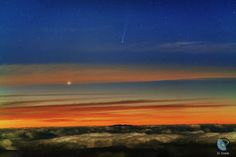 Comet ISON & Mercury photographed by JC Casado on @ Tenerife, Canary Islands Nasa Images, Canary Islands, Tenerife, The Darkest, Northern Lights, Sunrise, The Incredibles, Amazing, Nature