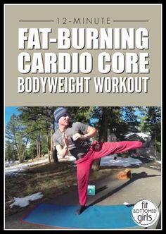 This 12-minute cardio core fat-burning workout is effective. And did we mention just 12 minutes? | Fit Bottomed Girls