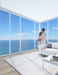 Nautique Suite overlooking Lake Ontario.  Nautique Lakefront Residences by Adi Development Group www.adidevelopments.com